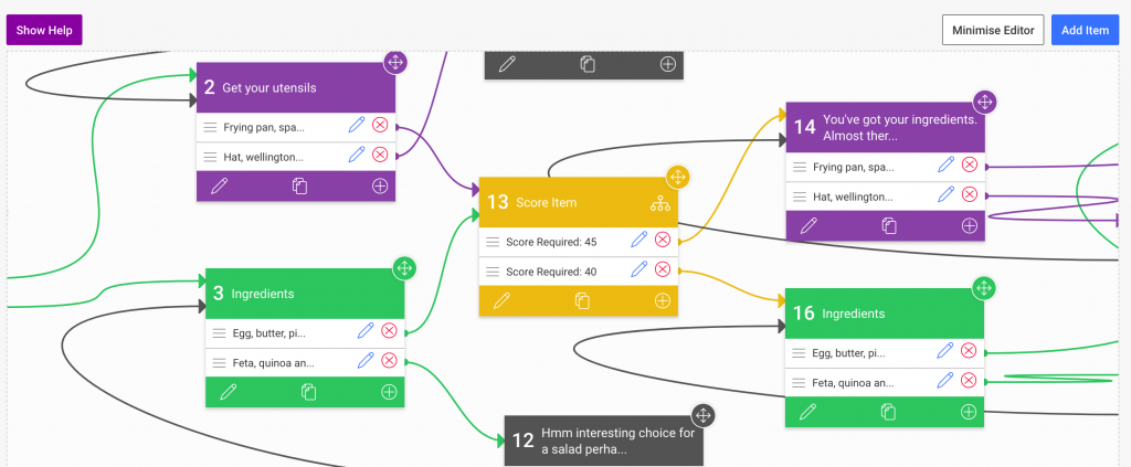 Evolve Authoring Branching component editor view